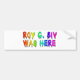 Roy G. Biv Grafite Adesivo Para Carro
