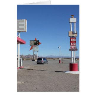 Roy´s cafetaria Route66 Cartão Comemorativo