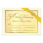 RSVP - 50th convites dourados do aniversário