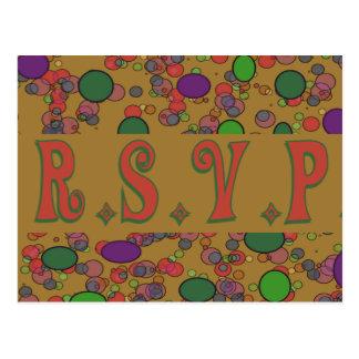 rsvp amarelo cartão postal