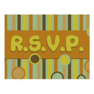 rsvp amarelo ensolarado cartões postais