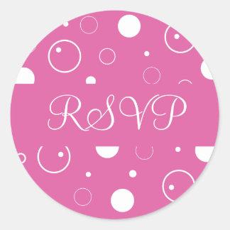 RSVP borbulha selo da etiqueta do envelope Adesivo
