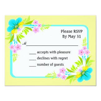 RSVP carda o quadro floral tropical na luz - Convite