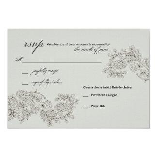 RSVP com o vintage de //de 2 escolhas de Entrée Convite 8.89 X 12.7cm