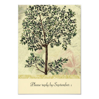 Rsvp da árvore de Myrtle do italiano do vintage Convite 8.89 X 12.7cm