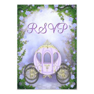 RSVP da princesa Carruagem Enchanted roxa Convite 8.89 X 12.7cm