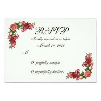 RSVP floral elegante simples Convite 8.89 X 12.7cm