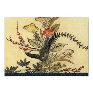 Rsvp japonês do pergaminho do vintage com convite 8.89 x 12.7cm