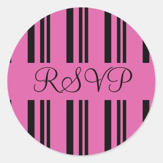 RSVP listra o selo da etiqueta do envelope Adesivo