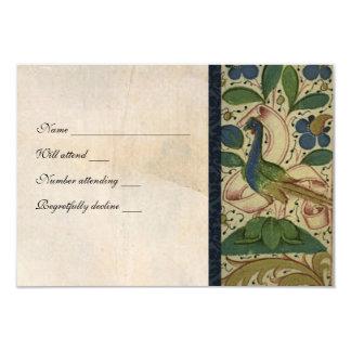 Rsvp medieval do pergaminho do faisão com convite 8.89 x 12.7cm