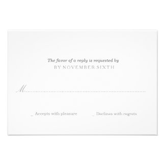 RSVP simples moderno | que Wedding Convite