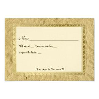 Rsvp transversal católico do vintage convite 8.89 x 12.7cm