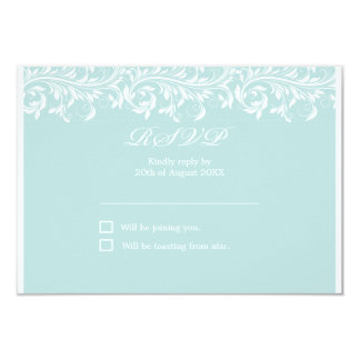 RSVP wedding azul e branco da luz de Sarah Jane - Convite 8.89 X 12.7cm