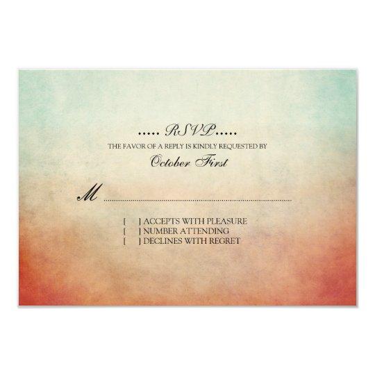 RSVP Wedding boémio vermelho e azul rústico Convite 8.89 X 12.7cm