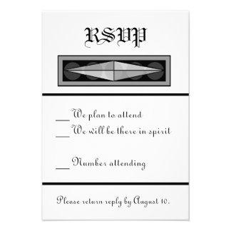 RSVP Wedding cristão formal Convite Personalizado