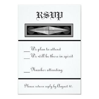 RSVP Wedding cristão formal Convite 8.89 X 12.7cm