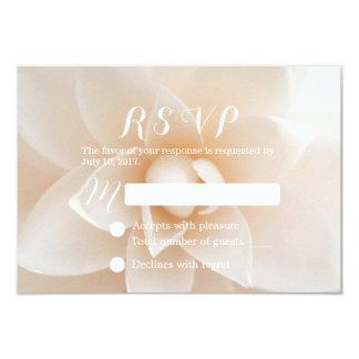 RSVP Wedding floral branco simples Convites Personalizados