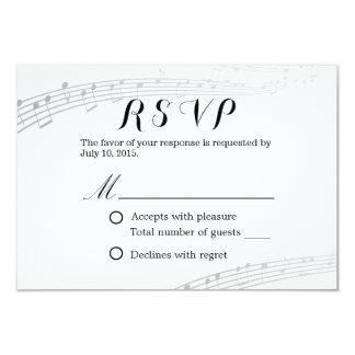 RSVP Wedding musical simples e elegante Convite 8.89 X 12.7cm