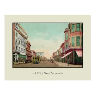 Rua 1905 J, Sacramento, Cal. do vintage Cartão Postal