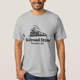 Rua da estrada de ferro - homens T Camisetas