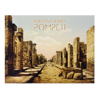 Rua de Fortuna, Pompeii, Italia Cartão Postal