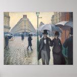 Rua de Paris; Dia chuvoso Posters