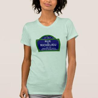 Rua de Richelieu, sinal de rua de Paris Camiseta