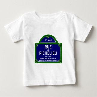 Rua de Richelieu, sinal de rua de Paris Camisetas