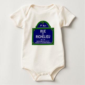 Rua de Richelieu, sinal de rua de Paris Macacãozinho Para Bebês