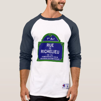Rua de Richelieu, sinal de rua de Paris Tshirts