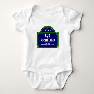 Rua de Richelieu, sinal de rua de Paris T-shirt