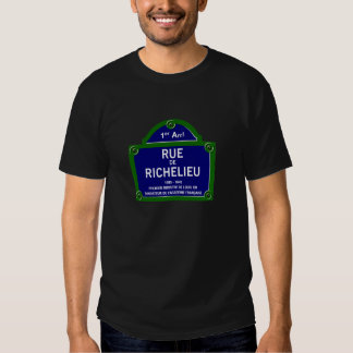 Rua de Richelieu, sinal de rua de Paris Tshirt