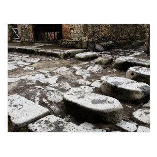 Rua em Pompeii - pedras na rua Cartão Postal