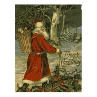 Rua Nick do cartão do Feliz Natal do vintage