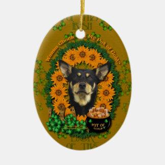 Rua Patricks - pote de ouro - Kelpie australiano J Enfeites Para Arvores De Natal