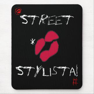 Rua Stylista no preto mim Mouse Pad