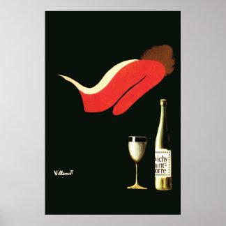 Rua Yorre de Villemot Vichy do art deco do vintage Impressão