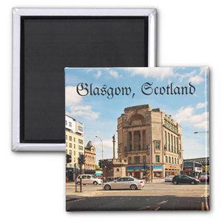 Ruas de Glasgow, Scotland Ímã Quadrado