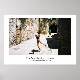 Ruas de Jerusalem Posters