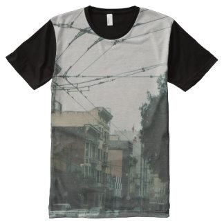 Ruas de San Francisco Camisetas Com Impressão Frontal Completa
