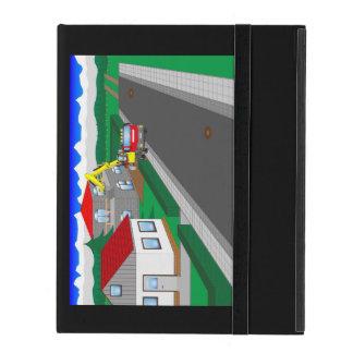 Ruas e construção de casa iPad capa