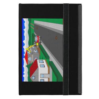 Ruas e construção de casa iPad mini capa