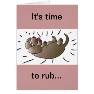 RUB da amizade meu cartão da barriga