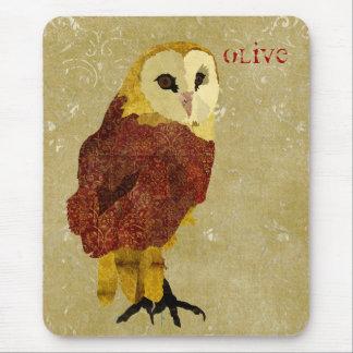 Rubi dourado Mousepad personalizado coruja