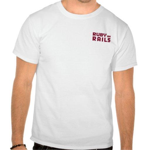 Rubi na camisa dos trilhos camisetas