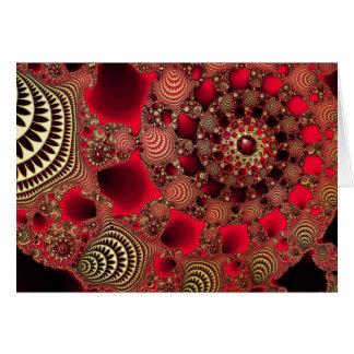 Rubis & cartão de Natal do ouro