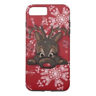 Rudolph a capa de telefone vermelha do floco de