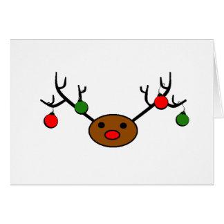 Rudolph decorativo cartão