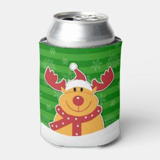 Rudolph no Natal bonito da neve Porta-lata