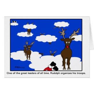 Rudolph o grande cartão de Natal do líder